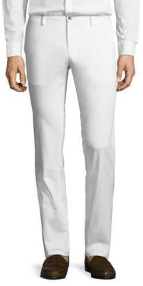 BOSS Solid Stretch-Cotton Pants