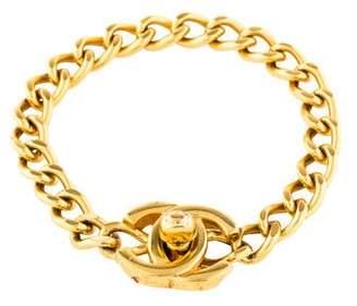 Chanel CC Turn-Lock Curb Chain Bracelet