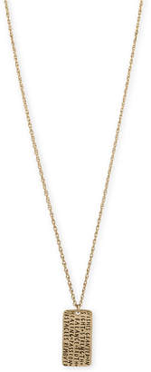 Rachel Roy Gold-Tone Etched Inspiration Dog Tag Pendant Necklace