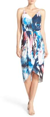 Chelsea28 Print Faux Wrap Dress