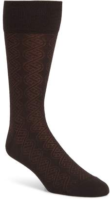 John W. Nordstrom R) Cable Merino Wool Blend Socks