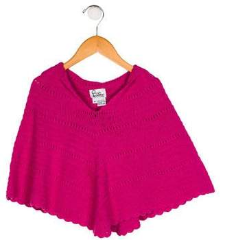 Lilly Pulitzer Girls' Knit Hooded Poncho