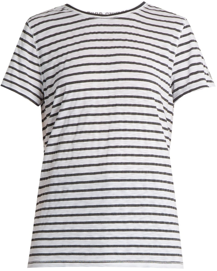 TODD SNYDER + CHAMPION Boyfriend striped slub-jersey T-shirt