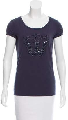 Max Mara Weekend Embellished Scoop-Neck T-Shirt