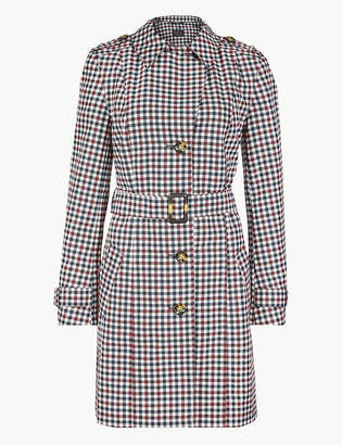 Marks and Spencer Checked Trench Coat