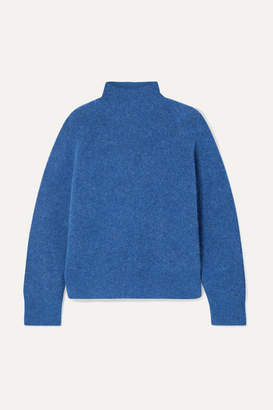 By Malene Birger Ribbed-knit Turtleneck Sweater - Storm blue