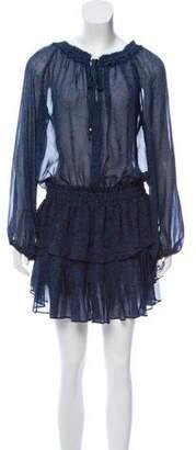 LoveShackFancy LD256L Silk Long Sleeve Mini Dress w/ Tags
