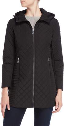 Calvin Klein Black Diamond Quilted Longline Jacket