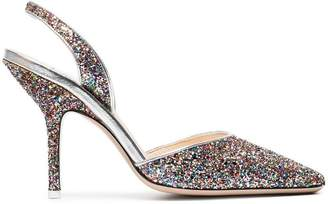 ATTICO multi-coloured Mara 100 glitter pumps
