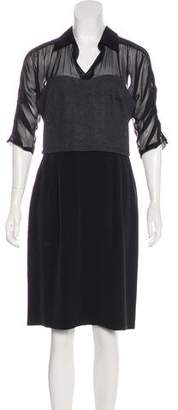 Fendi Short Sleeve Midi Dress w/ Tags