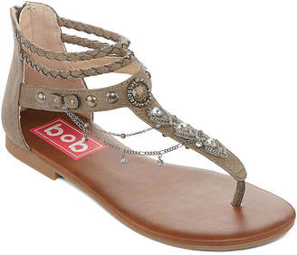 c34be84f7eaac POP Womens Amica Ankle Strap Flat Sandals