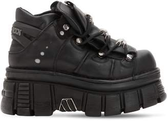 New Rock 70mm Leather Platform Boots