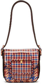 Tory Burch Sawyer Houndstooth Mini Shoulder Bag