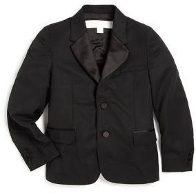 Burberry Little Boy's & Boy's Satin-Trim Tuxedo Jacket $750 thestylecure.com