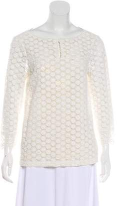 Tory Burch Lace Long Sleeve Top