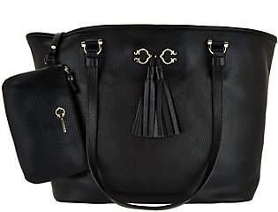 C. WonderAs Is C. Wonder Pebble Leather Open Tote Handbag