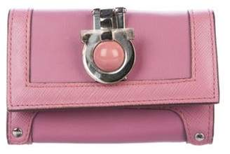 Salvatore Ferragamo Gancino Key Holder Pink Gancino Key Holder