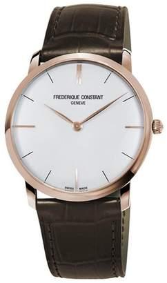 Frederique Constant Women's Slimline 39mm Steel Case Quartz Watch Fc-200v5s34