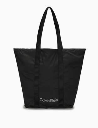 Calvin Klein logo packable shopper tote