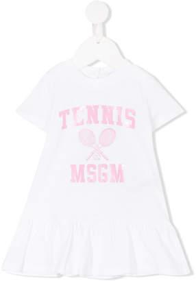MSGM tennis print T-shirt dress