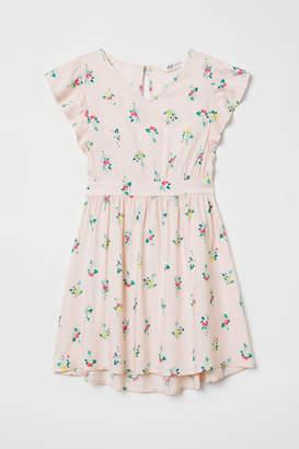 H&M Viscose Dress with Smocking - Pink