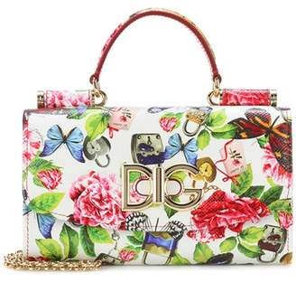 Dolce & Gabbana Floral leather crossbody clutch