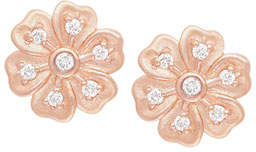 Jamie Wolf Lilac Diamond Flower Stud Earrings