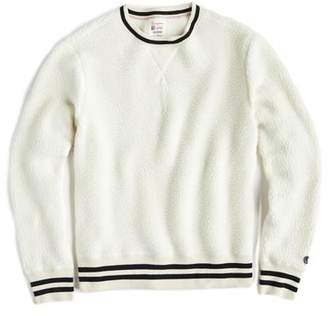 Todd Snyder + Champion Polartec Sherpa Crewneck Sweatshirt in Cream