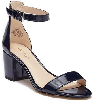 Nine West Fields Ankle Strap Block Heel Sandal