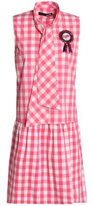 From China For Sale Factory Price Love Moschino Woman Ruched Gingham Cotton Mini Dress Pink Size 44 Love Moschino Outlet Purchase Best Cheap Online RcfCgS
