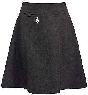 John Lewis Girls' Easy Care Adjustable Waist A-Line School Skirt
