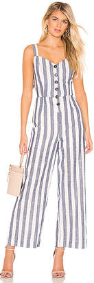 J.o.a. Striped Back Tie Jumpsuit