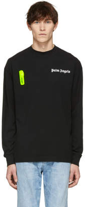 Palm Angels Black and Yellow Basic Long Sleeve T-Shirt