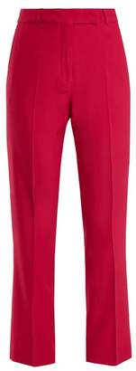 Etro Violante Straight Leg Stretch Cady Trousers - Womens - Pink