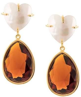 Lizzie Fortunato embellished drop earrings