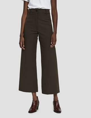 Creatures of Comfort Maison Twill Sailor Pant in Dark Brown