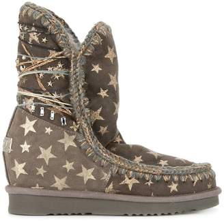 Mou Eskimo star wedge boots