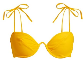 Araks Myriam Curved Underwire Bikini Top - Womens - Yellow
