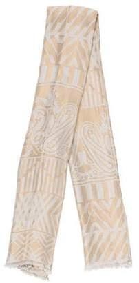 Etro Metallic Silk Shawl