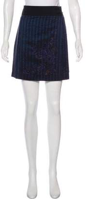 Philosophy di Alberta Ferretti Pinstripe Mini Skirt