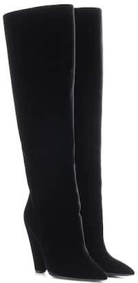 Saint Laurent Niki 105 velvet boots