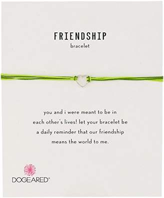 Dogeared Dogea Friendship Small Open Heart with Mix String Bracelet