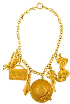 Chanel Oversize Charm Statement Necklace