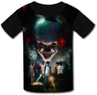 DicoYage Custom Clown-Joker Pennywise Boys Girls Teenager Tee Shirt Children Youth T-shirts