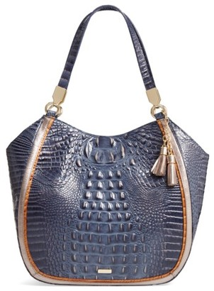 Brahmin Andesite Lucca Marianna Leather Tote - Blue $335 thestylecure.com