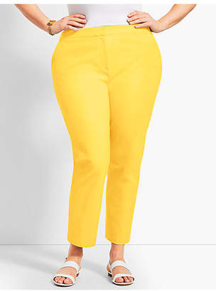 Talbots Womans Exclusive Hampshire Ankle Pant - Curvy Fit