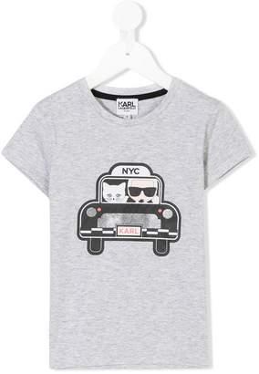 Karl Lagerfeld taxi print T-shirt