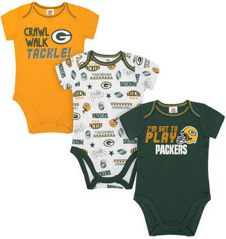 Gerber Green Bay Packers 3 Pack Creeper Set, Infants (0-9 Months)