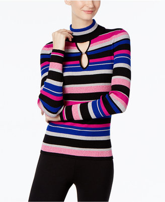 INC International Concepts Striped Keyhole Sweater, Only at Macy's $59.50 thestylecure.com