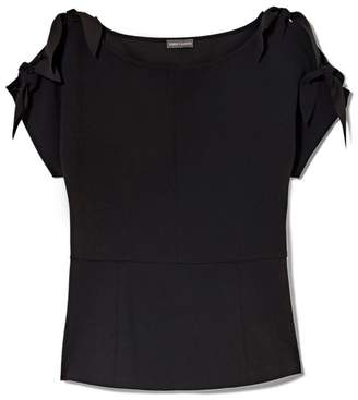 Vince Camuto Crepe Tie-sleeve Blouse